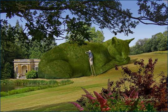 Topiary Cat - Топиарный Кот