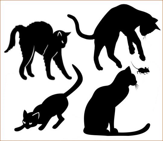 Шаблоны котов для интерьера