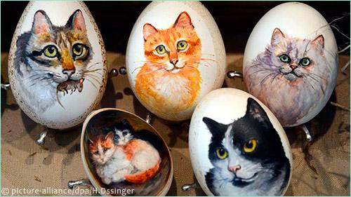Писанки с кошками