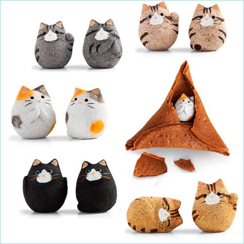 Рисовые крекеры сэмбэй (senbei) с кошками