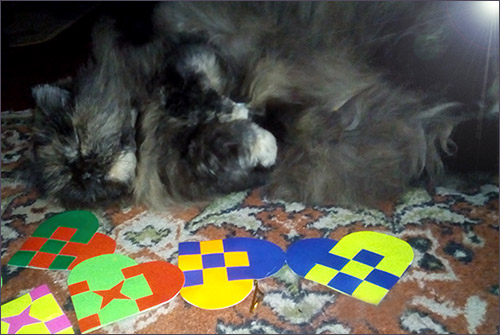 Валентинка и кошка
