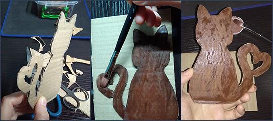 Котик из кофейных зерен